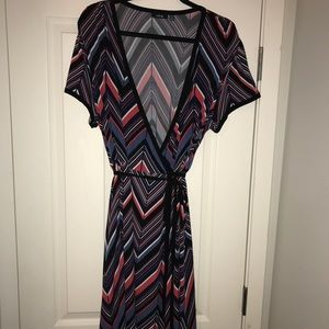 Women's wrap dress plus size 1x