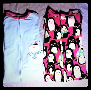 Girls Fleece Footie Bundle