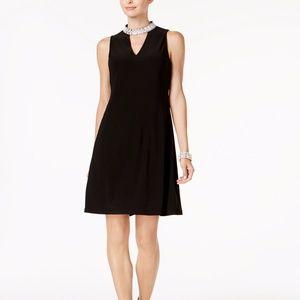 MSK Embellished Keyhole Dress Black Size XL