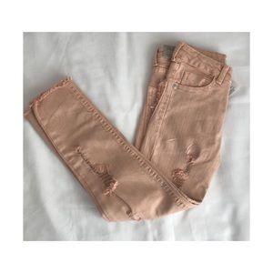 Zara girls destroyed jeans