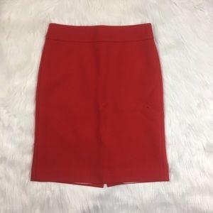 J.crew 100% wool red pencil skirt