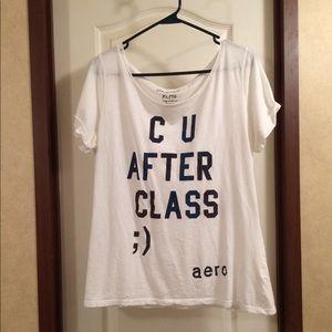 "Aeropostale ""C U After Class ;)"" T-Shirt"