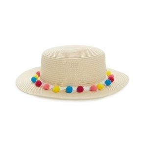 Bp Pom Band straw boater hat. One size
