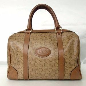 Authentic CELINE Boston Bag Coating Canvas Leather