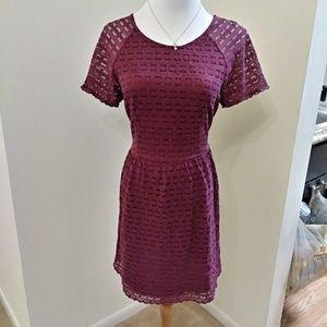 Free People burgundy maroon lace chrochet dress