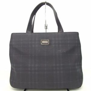 Authentic BURBERRY Handbag Black Canvas