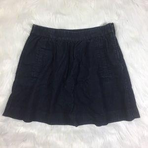 J.Crew Denim Skirt Dark Blue Slight flare