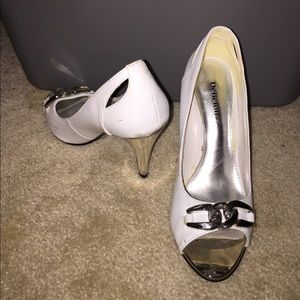 Shoes - White peep toes