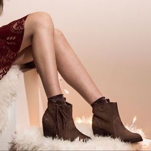 Fringe Brown Pull On Boots