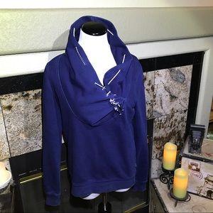 MAISON SCOTCH Navy Blue sweatshirt.