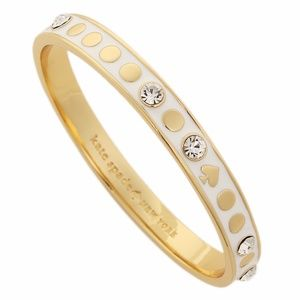 Kate Spade White Enamel Bracelet