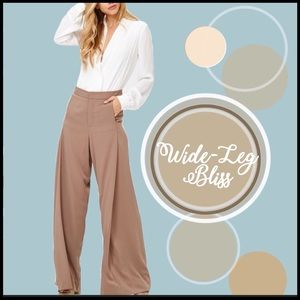 COMING SOON! Wide-Leg Trousers
