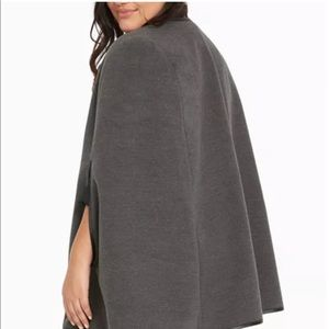 Torrid Grey Cape Coat