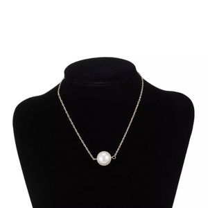 New Elegant Gold Plated Chain Pearl Necklace