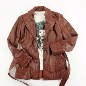 Nordstrom VINTAGE Point Of View leather trench
