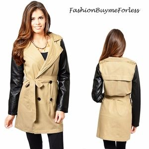 Khaki Safari Double Breasted Belted Trench Coat