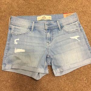 Hollister midi denim shorts