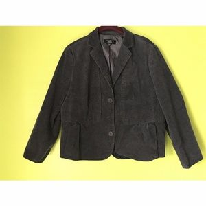 Talbots Long Sleeve Lapel Black Jacket 14WP