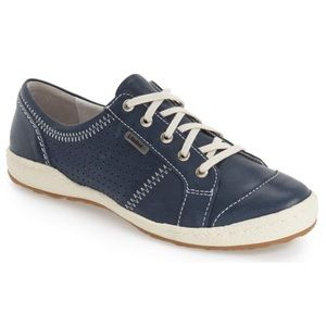 Josef Seibel Perforated Leather Sneakers