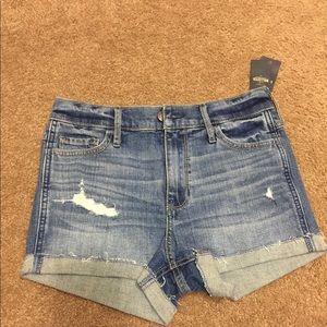 Hollister high rise short shorts