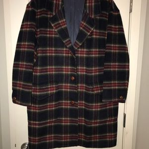 Vintage wool blend long blazer style coat