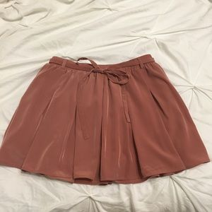 Mauve Skirt with built in Shorts