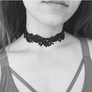 Beautiful Black Rose lace Detailed Choker