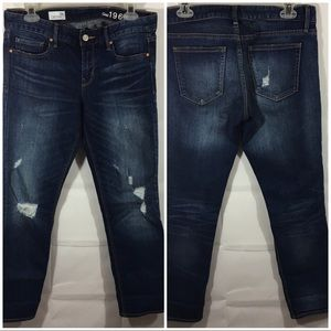 Gap Jeans 28 Waist Short Real Straight Distressed