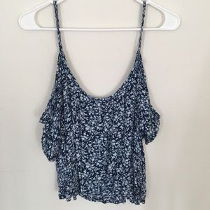 Hollister tank top with off-the shoulder sleeves