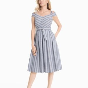 WHBM Cold shoulder striped sundress NWT