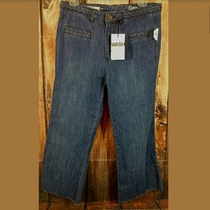 Gap Original Flare Cut Off Crop Capri Jeans Sz 2r