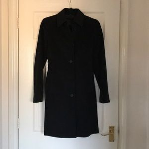 Theory 100% cashmere black coat