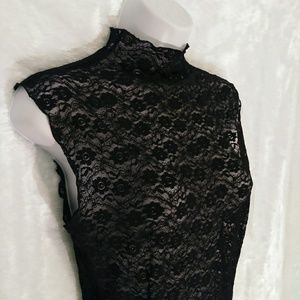 Intimately Free People Black Lace Dress