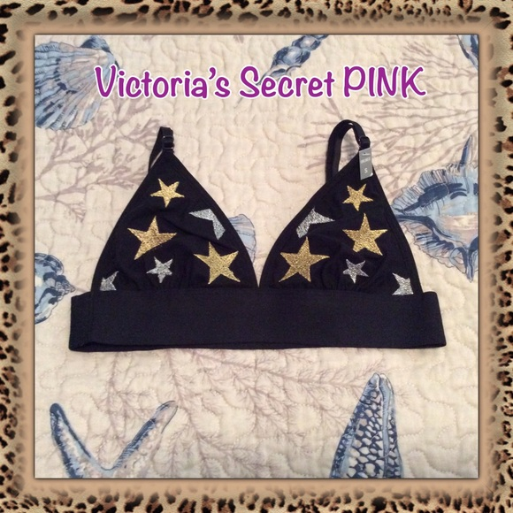 f6373c29a6 ⭐️HP⭐ 🆕 VS PINK Embroidered Triangle Bralette
