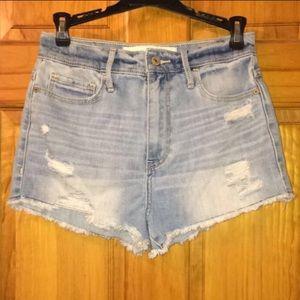 A&F NWOT natural waist denim shorts