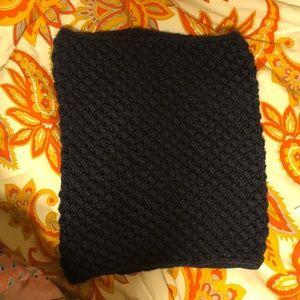 Navy Blue Knit Infinity Scarf