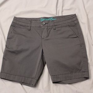 American Eagle Gray Bermuda Shorts