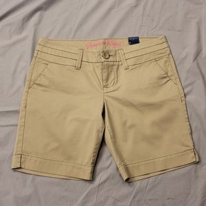 American Eagle Khaki Bermuda Short