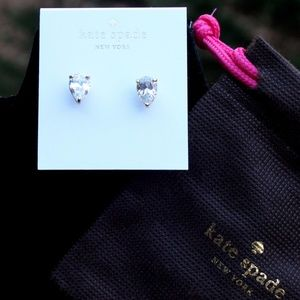 New Kate Spade Shine On Clear Post Earrings
