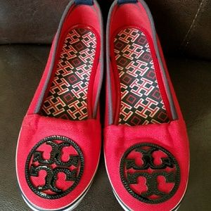 Tory Burch Espadrilles Sneakes Flat Red Size 6