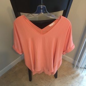 Coral color blouse/ tunic