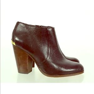Coach Black Leather Block Heels Booties