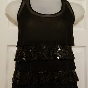 Lane Bryant Sequin Tiered Tunic As 18/20