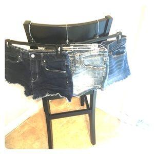 3 pair denim shorts