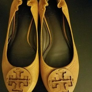 Tory Burch Reva Ballet Flat Tan/Brown Size 5