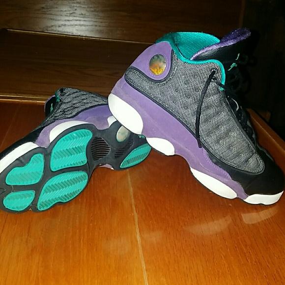 new style a0d0f 5d2e6 Air Jordan Retro 13 (Grapes Aquas Hornets). M 5a101b416a5830338a012d1e