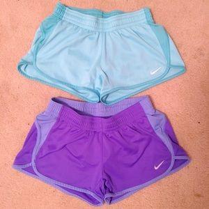 Nike Dri-Fit Short Bundle Size Small Purple / Blue