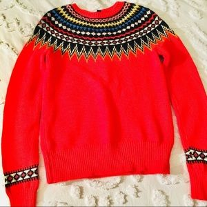 J.Crew Christmas Lights Fair Isle Nordic Sweater