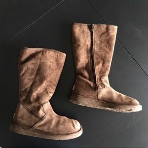 Ugg Sunset III Tall Chestnut Boots Size 9
