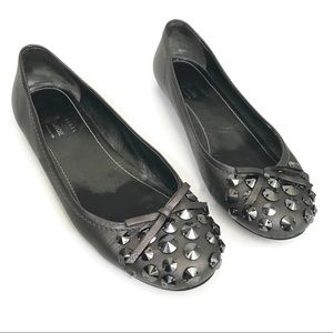 Car Shoe by Prada Sequined Metallic Ballet Flats